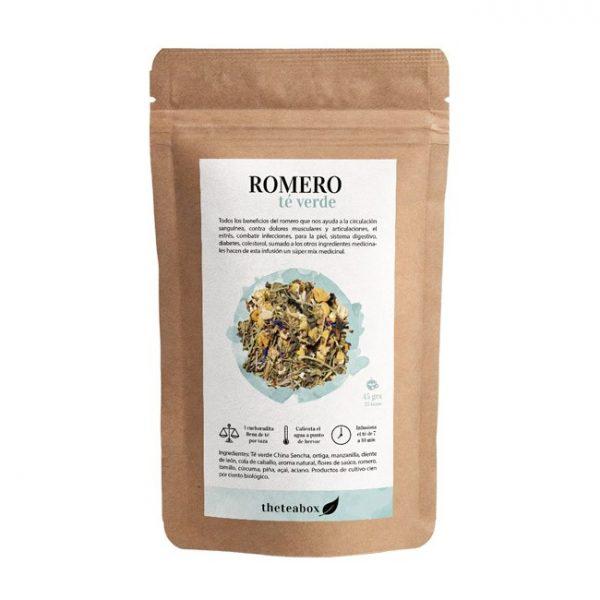 infusión de romero con té verde