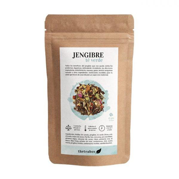 infusión de jengibre con té verde